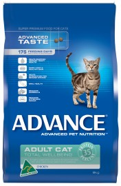Advance Adult Cat Food Total Wellbeing (Chicken)