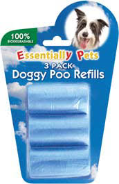 Essentially Pets 3 pk Doggy Poo Refills