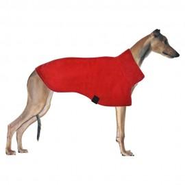 Long Neck Polo Fleece Coat (Red)