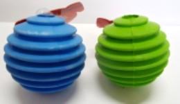 Groovy rubber ball
