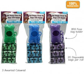 3pk Doggy Bags with Dispenser