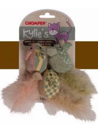 Chomper Kylies Vintage Mice 3pk